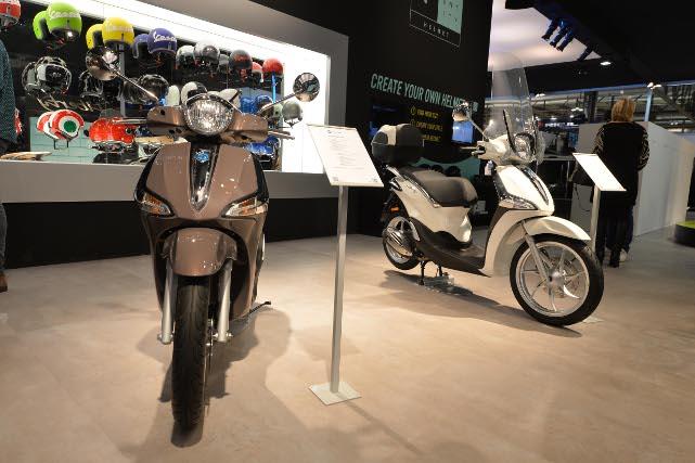 exposición tipos de motos Piaggio
